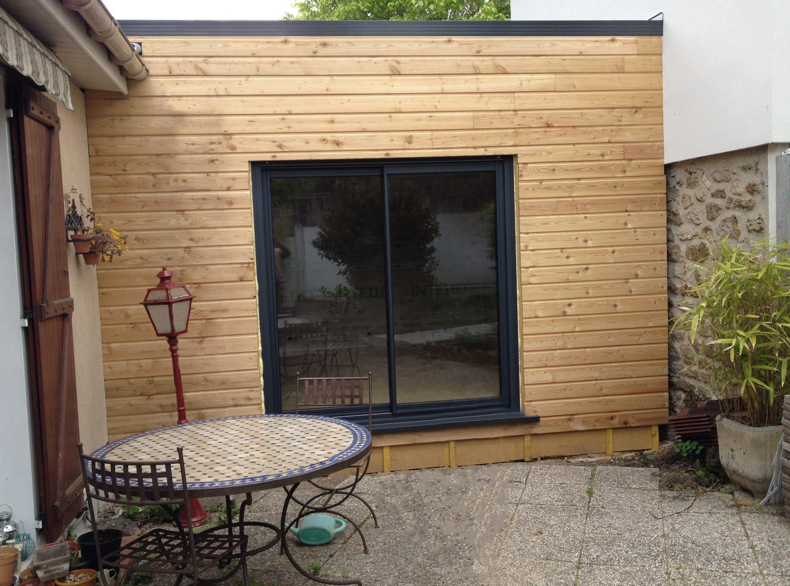 extension maison en ossature bois